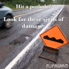 Hit a pothole? Here are the signs of damage to look for.