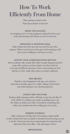 work efficiently from home Work Life Balance, Career Development, Professional Development, Personal Development, Work From Home Tips, Career Advice, Career Planning, Time Management Tips, Le Web