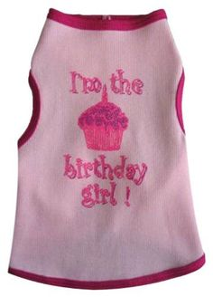 I See Spot's Dog Pet Cotton T-Shirt Tank, Birthday Girl, XX-Large, Pink ** Discover this special dog product, click the image : Dog shirts