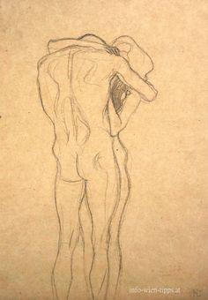 """Gustav Klimt, Study for """"Beethovenfries"""", 1902"""