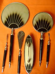 Art Deco Vanity Set 6 pcs. by abelincolnsdog on Etsy, $65.00