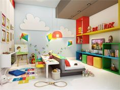 Designing a kids' bedroom and then decorating it aptly is both a time consuming and costly affair. Ikea Kids Playroom, Playroom Design, Kids Room Design, Playroom Ideas, Baby Decor, Kids Decor, Home Daycare, Toy Rooms, Baby Boy Rooms