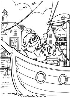 Muppet Babies Animal The Sailor Coloring Picture