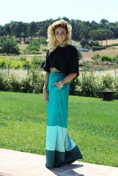 @eleonora brunacci con il nostro pantalone palazzo tricolor