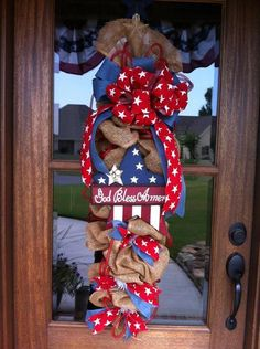 God Bless America teardrop from Southern and Sassy Door Decor and More on Facebook