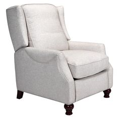 Beige Fabric Recliner Feather Down Seating $700