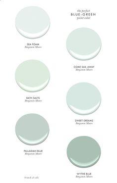 blue-green paint colors