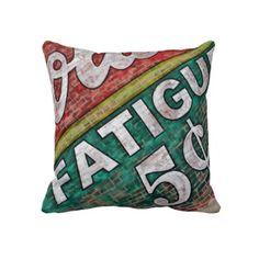 throw pillow with grafitti photography
