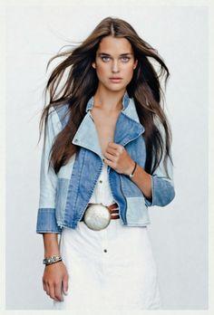 Color Block Denim Jacket Clothing, Shoes & Jewelry - Women - women's belts - http://amzn.to/2kwF6LI
