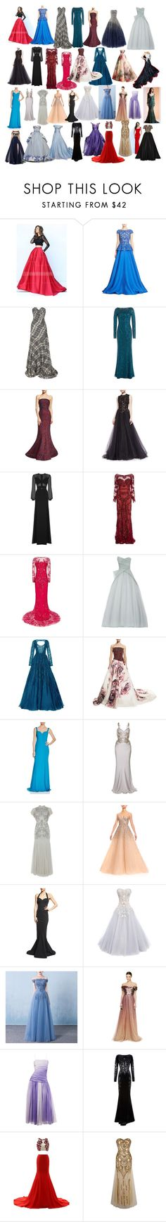 """Some of my favorite dresses #2"" by andyarana ❤ liked on Polyvore featuring Naeem Khan, Oscar de la Renta, Jenny Packham, Zac Posen, Marchesa, Elie Saab, Zuhair Murad, Monique Lhuillier, Badgley Mischka and Alexander McQueen"