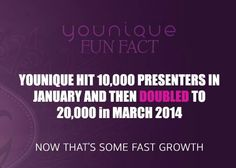 We are growing SO fast! And Hit 100,000 in September 2014 - www.youniqueproducts.com/SandraDHawk I am presenter 55862