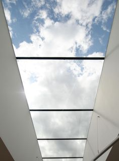 Glass Roof, brings the feel of the weather outside, inside.