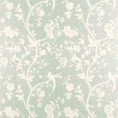 Oriental Garden Eau De Nil Floral Wallpaper