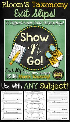 This set of 30 exit slips helps facilitate higher order thinking and thoughtful written response after students have reflected on a lesson or topic. Using these slips will help you collect formative assessments on your students throughout the school year and provide insight on how your students relate to what they learn each day!
