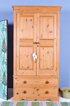 SOLID PINE DOUBLE FARMHOUSE WARDROBE Pine Furniture, Solid Pine, Armoire, Farmhouse, Top, Home Decor, Clothes Stand, Decoration Home, Closet