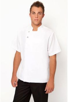 SPA MAN 03 TUNIC This tunic is cool, comfortable with  easy wash and wear fabric. Press stud closure at the front with pocket. ALL MENS UNIFORMS MADE TO ORDER, ONCE YOUR ORDER IS PLACED ONLINE PLEASE ALLOW UP TO 2 WEEKS FOR THE ITEMS TO BE MADE. Available in sizes-  Small Mens, Medium, Large, Extra Large and …