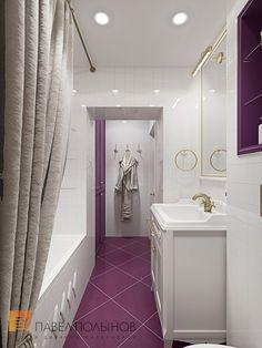 Фото: Дизайн ванной комнаты - Трехкомнатная квартира в Пушкине в стиле легкой классики, 73 кв.м.