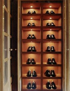 add little LED lights to your shoe shelves and display them like the beautiful works of art that they are!