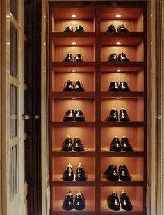 gentleman's shoe closet
