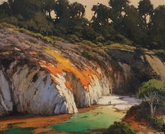 Morning Light at China Cove by Brian Blood Oil ~ 24 x 30