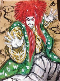歌舞伎 水彩イラストレーション