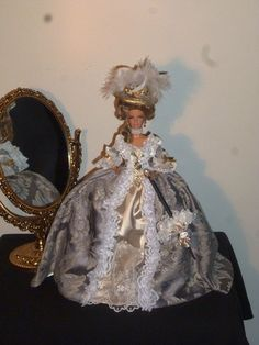 new dolls marie antoinette dress english  ooak by sara corsellini creation customer dolls