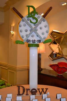 Golf Themed Bar Mitzvah Place card Table Party Perfect Boca Raton, FL 1(561)9948833