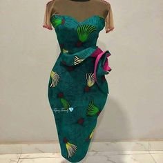 Custom-made Outfits: African Outfits for your events. Ankara #WomensAfricanFashion