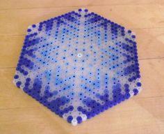 Snowy Trivet  perler beads by by Soggy_Enderman