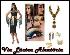 Assessórios/make para usar no halloween com a fantasia de Cleopatra Fantasias Halloween, Cleopatra, Wonder Woman, Superhero, Photo And Video, Women, Cleopatra Costume, Fantasy Party, Outfits