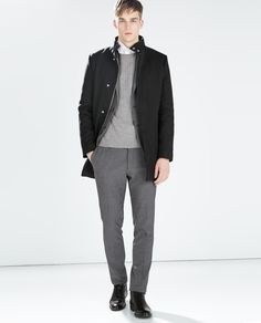 Image 1 of SEAMED COAT from Zara