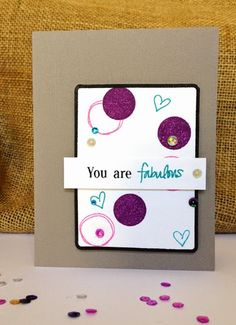 A great card created using the Today stamp set!  @ashley_harris