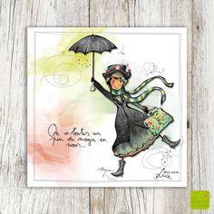 On a toutes un peu de magie en nous ... Carte postale illustrée par Myra Vienne - www.editionsdecortil.com