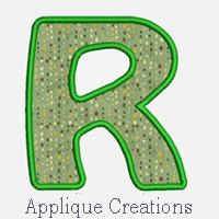 Alphabet Applique A-Z ...Embroidery Applique Design 25...Three sizes for multiple hoops...item1034...INSTANT DOWNLOAD