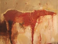 "PAINTING | h a r r y a l l y | suzanne w ally. Equus#1 . 64 x 84"" . mixed media on canvas . 2006"