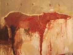 "PAINTING | h a r r y a l l y | suzanne w ally. Equus#1 . 64 x 84"" . mixed media on canvas . 2006"