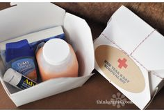 favors: hangover kit; Garnish