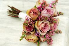 amnesia rose and Lilac bridal bouquet