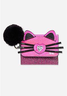 Sparkle Cat Pom Wallet