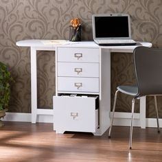 Upton Home London White Fold-out Organizer and Craft Desk - Overstock™ Shopping - Great Deals on Upton Home Desks