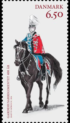 Commemoration of the 400th Anniversary of Denmark's special cavalry unit, the Guard Hussar Regiment #denmark #military #stamps http://wopa-stamps.com/index.php?controller=country&action=stampRelatedIssue&id=13581
