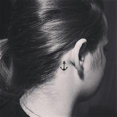 tiny-anchor-tattoos-behind-ear.jpg (612×612)