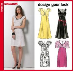 Free Dress Pattern | New Look 6750 - Misses Dresses