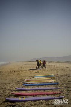 Raz SurfCamp en la Praia de Razo en Carballo, Galicia