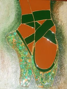 galleryrudolphus - Home #dancer #shoes #green #laces #feet #painting