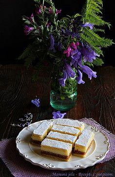 Mamina jela: Kaloš pita - prhka pita sa orasima i krem filom Cinnamon Recipes, Baking Recipes, Cookie Recipes, Dessert Recipes, Desserts, Bosnian Recipes, Croatian Recipes, Croatian Cuisine, Bread Dough Recipe