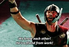 """Forever laughing bc Thor refers to being an Avenger as """"work"""" Marvel Fan, Marvel Dc Comics, Marvel Avengers, Dc Movies, Marvel Movies, Geeks, Spiderman, Loki Thor, The Villain"""