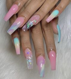 Summer Nail Designs You NEED to Try! – TAYLOR MADISON This summer get creative with your nail designs. From coffin nails with flowers and rhinestones to a colorful yet classic Summer Acrylic Nails, Best Acrylic Nails, Acrylic Nail Designs, Nail Art Designs, Summer Nails, Colored Acrylic Nails, Elegant Nails, Stylish Nails, Aycrlic Nails