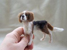 OOAK Dollhouse Miniature Beagle Dog  Nipper  by Malga by malga1605