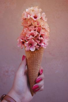 Ice cream flower bouquet for you!
